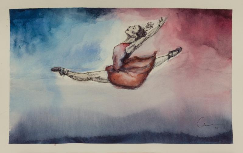 Capriccio's sketch Watercolor and pen Unruhe's sketch Watercolor and pen . Bailarinas