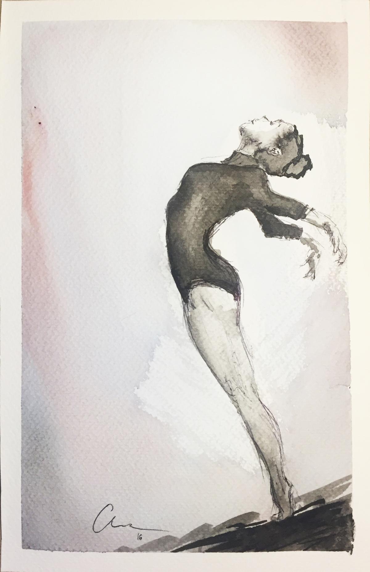 Bailarina Watercolor and pen.